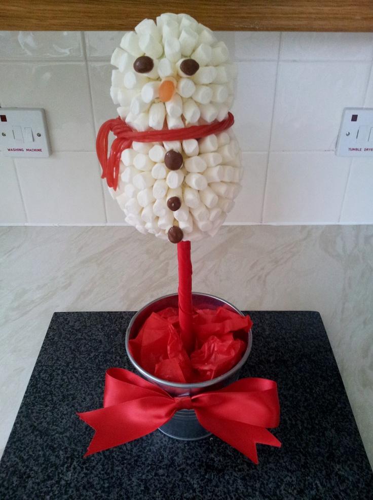 Marshmallow Snowman Sweet Tree