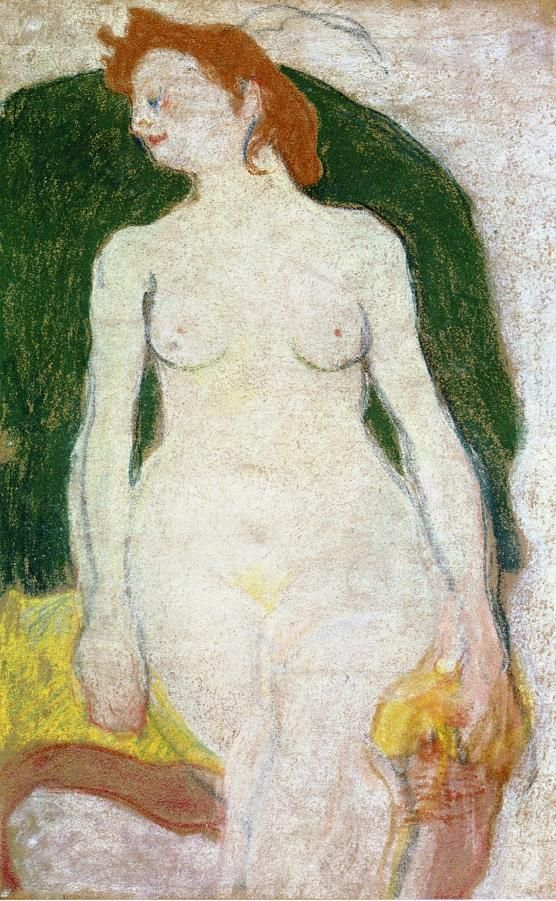 Nude on a Green Armchair, by Louis Valtat