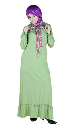 Bow Neck Abaya Islamic Clothing Long Dress ** Details can be found by clicking on the image.