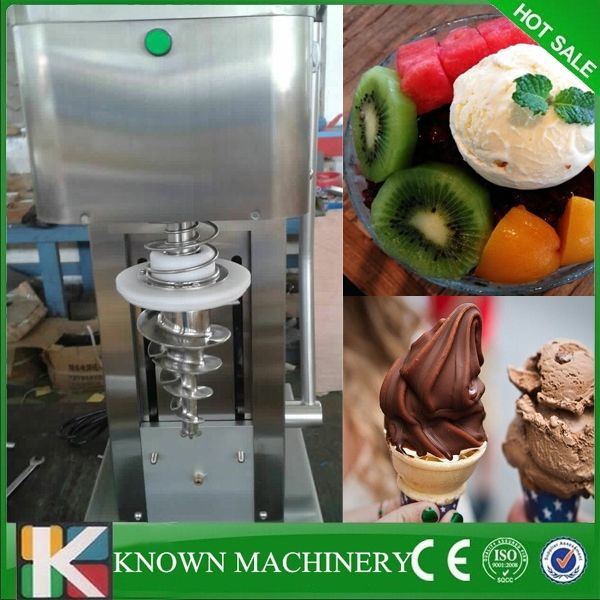 1700.01$  Buy here - http://ali0xl.worldwells.pw/go.php?t=32770159295 - Best seller lower noise stainless steel cone frozen yogurt blender kinds of fruits ice cream making machine free shipping 1700.01$