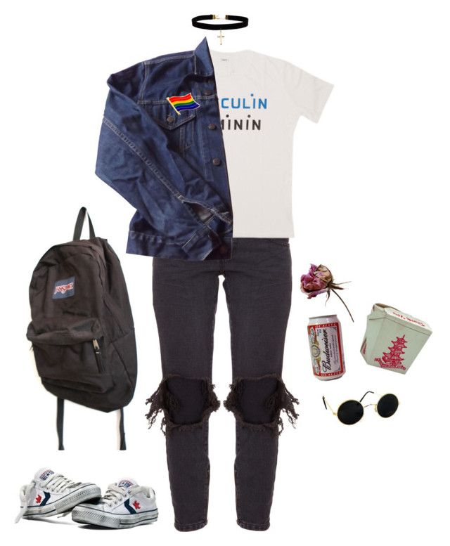"""liv"" by unwriteable ❤ liked on Polyvore featuring One Teaspoon, JanSport, Levi's and ASOS"