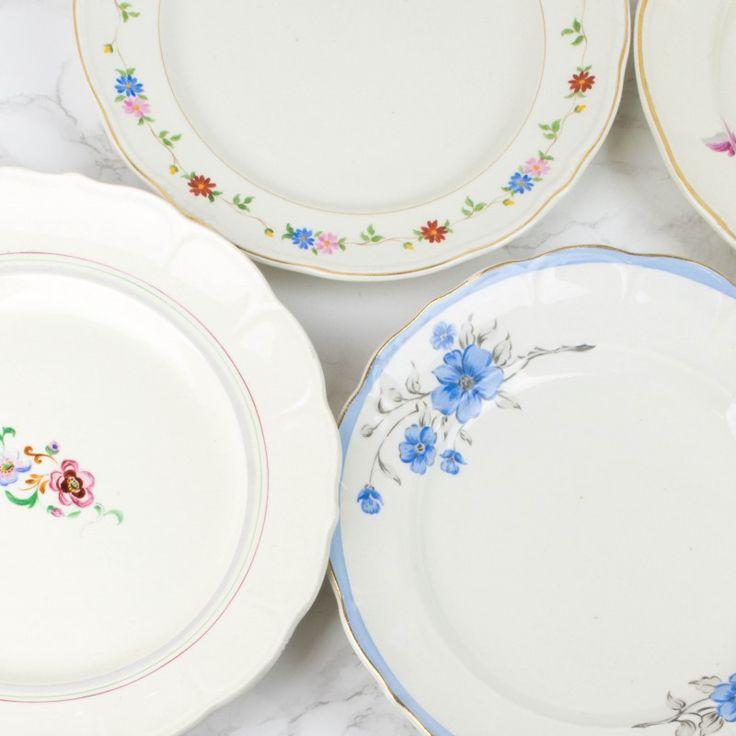 Colección de 7 platos pintados a mano San Claudio | Antic&Chic