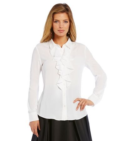 Shop for KARL LAGERFELD PARIS Ruffle Front Blouse at Dillards.com. Visit Dillards.com to find clothing, accessories, shoes, cosmetics & more. The Style of Your Life.