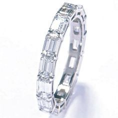 horizontal channel set rings stuart moore collection eternity band in platinum set with 314