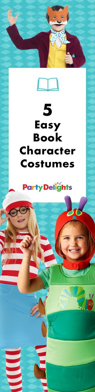 Looking for an easy World Book Day costume for your child? Take a look at our collection of easy book character costumes for kids - they're quick and easy and perfect for a World Book Day party on Thursday 3rd March 2016!