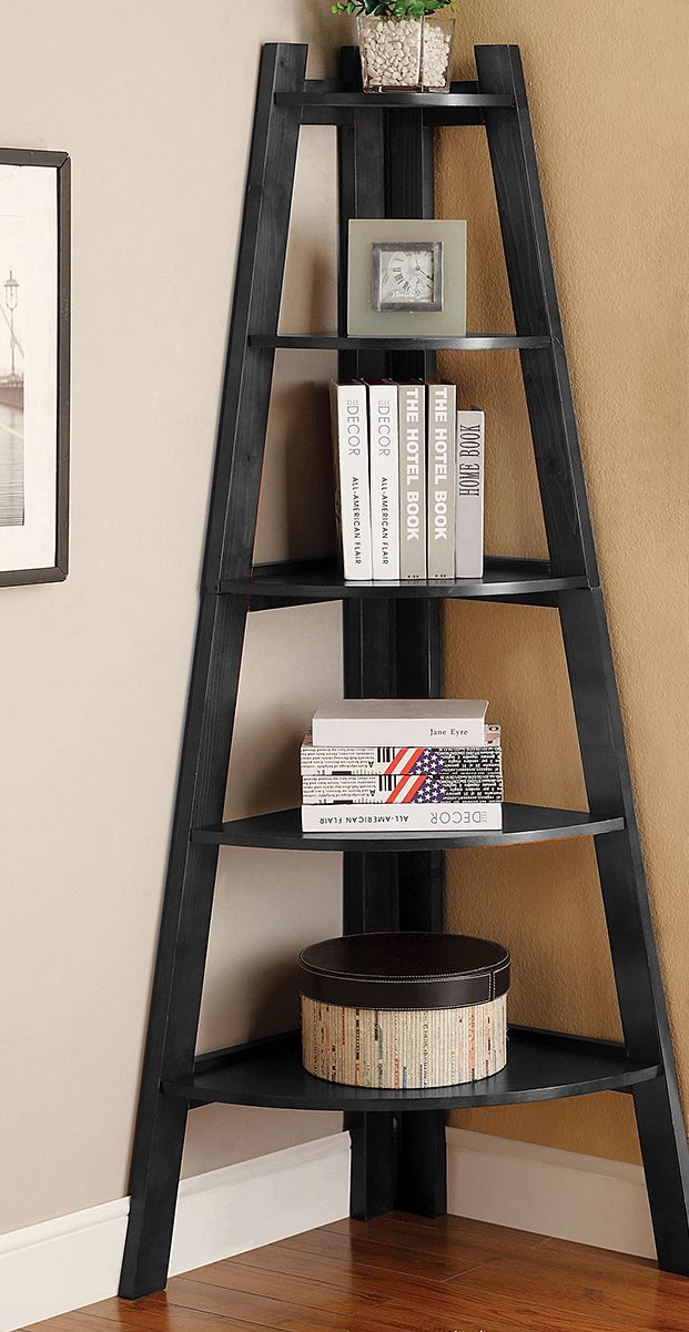 This beautiful Laminated Veneer Corner Wall Mount Shelf is d esigned to hang on a wall corner for a unique addition to your decor. The attractive and modern shelf has a mid-century flair that will add Más