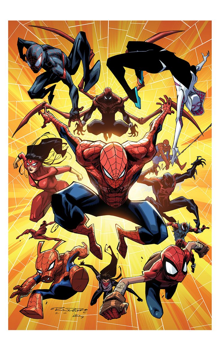kharyrandolph:  Spiderverse, by Khary Randolph & Emilio Lopez. Come see us at C2E2, Artist Alley T-10. *