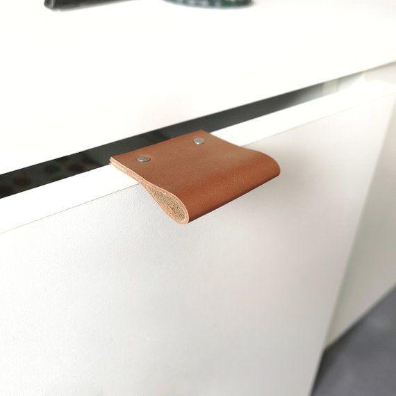 Leather Drawer Pulls Leather Pulls Dresser Handles Leather Edge Pulls