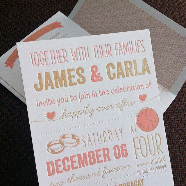 Simple Yet Elegant Made By Printsonalities Learn More Here Http Philippineswedding Invitations
