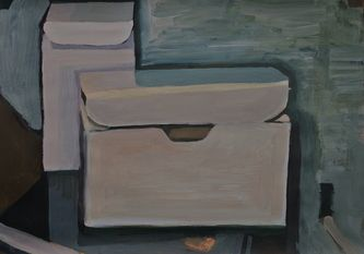 Box (Estates) Acrylic on paper 2011 H 42cm  W 59.5cm