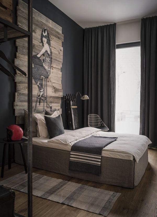 45 Rustic Bedroom Decoration Ideas For Men Bachelor Pad Bedroom