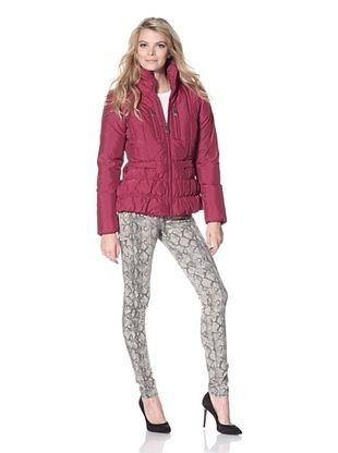 Betsey Johnson Women's Zip Front Puffer Jacket
