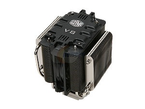 COOLER MASTER V8 RR-UV8-XBU1-GP 120mm Rifle CPU Cooler Compatible with Intel 1366/1155/775 and AMD AM3/AM2+/AM2