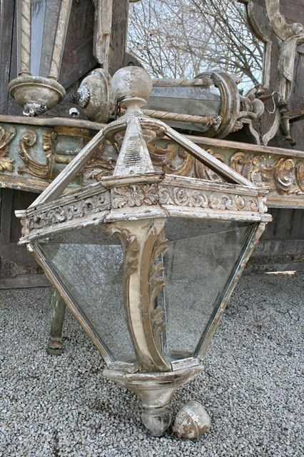 french antique light. so sad for this to be just laying there. sad. should be in my house