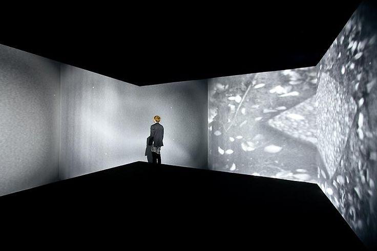 exactement le type de projection = idéalement projection avec plusieurs vidéos projecteurs sur les 3 murs d'une pièce en carré