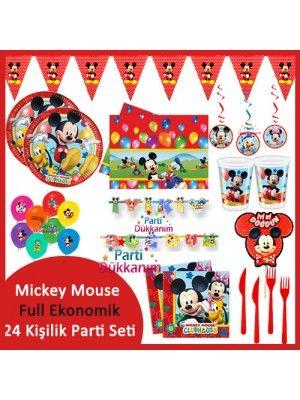 Mickey Mouse Full Ekonomik Parti Seti (24 Kişilik)