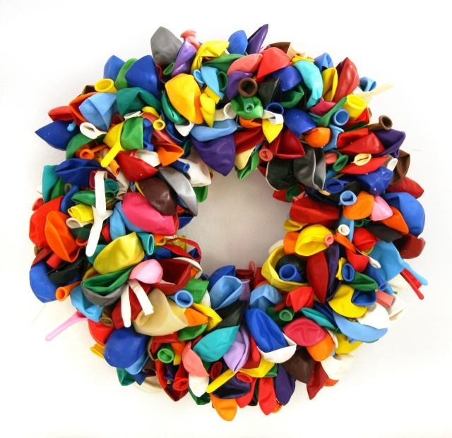 birthday balloon wreath   #balloon_wreath #birthday_ideas #DIY