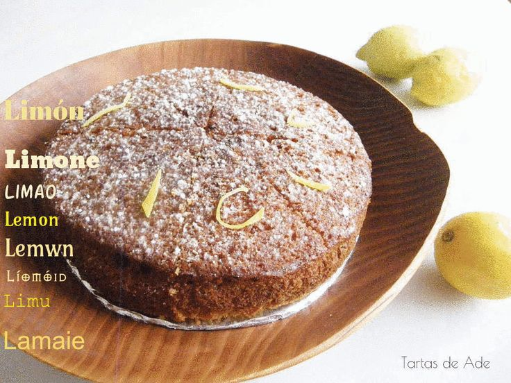 Lemon cake,a simplus but delicious treat./ Un bizcocho de limón sencillo pero delicioso.