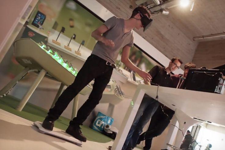 Amsterdamse reclamebureau maakt een virtual hoverboard met Oculus Rift, Kinect en Wii Balance Board