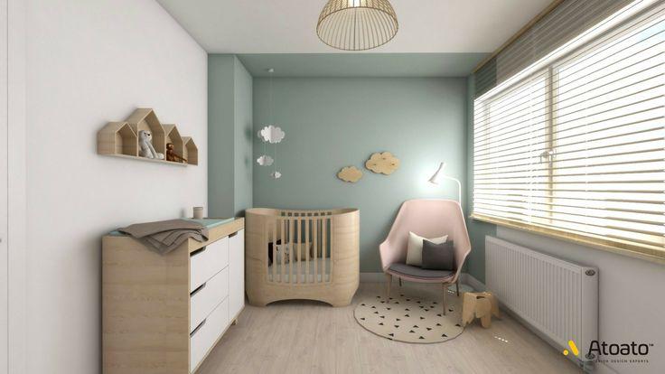 #atoato.pl #interior #design #scandinavian #style #bedroom #beautifulpink #colors #projektywnętrz #pasja #wnętrza #pokój #kids #dzieci