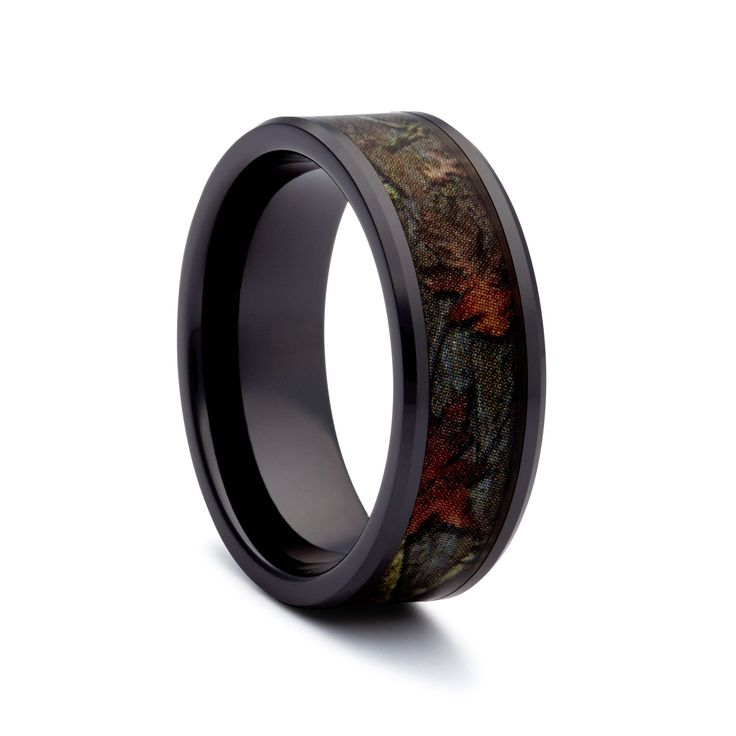 #1 CAMO Wedding Rings – Black Titanium Wedding Bands Having a Camo Wedding? Do you LIVE in Mossy Oak and Realtree Camo apparel? Love the outdoors and hunting? #1 CAMO created this Black Titanium Ring