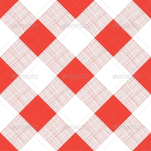 Lovely Vector Seamless Picnic Tablecloth Pattern