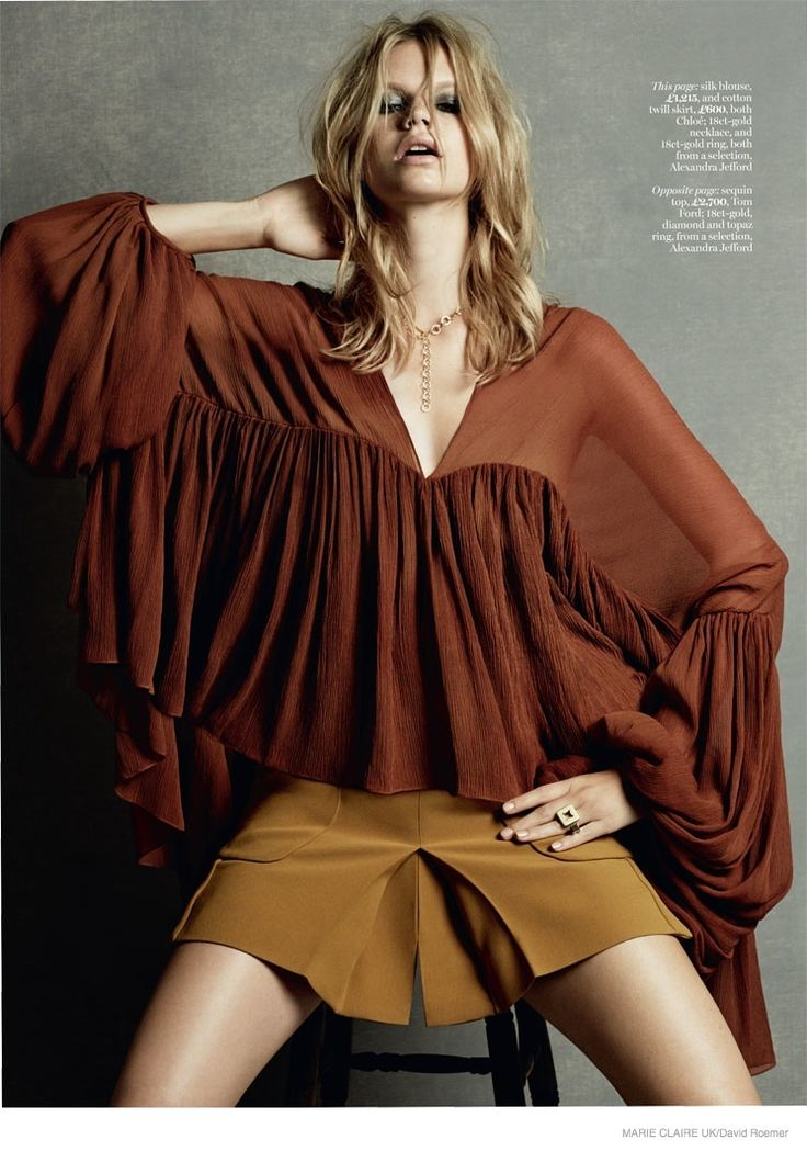 Nadine Leopold  for Marie Claire UK's March 2015  photographed by David Roemer