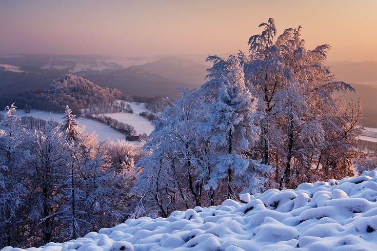 Winter in the Czech Republic Winter evening  by Daniel Řeřicha on 500px
