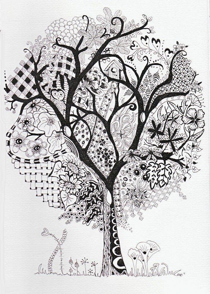 выборе картинки гелевой ручкой деревья пупырышки половых