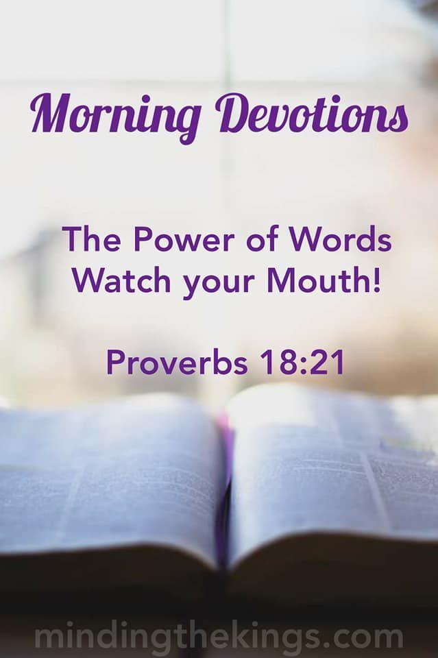 Teen devotion on power of word