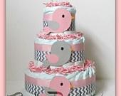 Chevron Diaper Cake