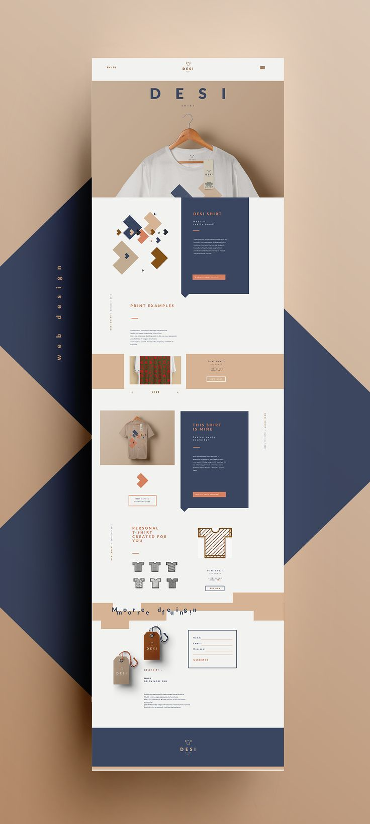 A simple, but nice web design that allows its viewers to customize their own clothing. Solid job! #Diseño #Design #creative #Inspiration #layout #web #composición #Diseño  #brand #branding #website #online #WebDesign