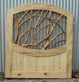 A Little Bit of This, That, and Everything: Garden Gate Made From Pallets And Branches