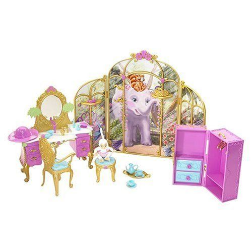 Barbie As The Island Princess Getting Ready With Tallulah Playset by Mattel. $44.99. Island Princess Playset. Includes the monkey friend with her own stool and a lot of pieces for a lot of play. The vanity playset lets girls reenact scenes from the movie Island Princess. There is a vanity and chair for Princess Rosella. Part of the Island Princess Collection. From the Manufacturer                Inspired by the upcoming DVD release, Barbie¿ as The Island Princess, the van...