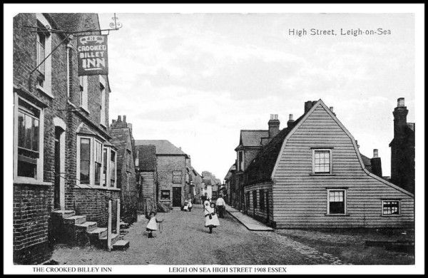 LEIGH ON SEA HIGH STREET 1908 THE CROOKED BILLEY INN