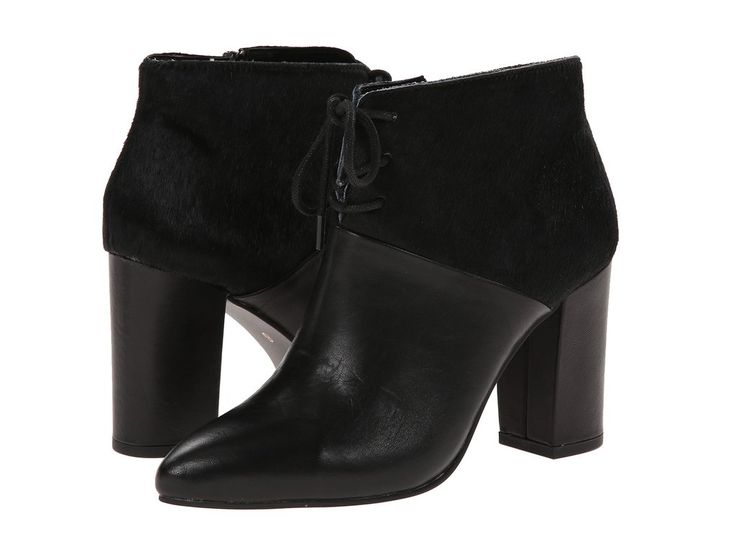"""Nonchalant"" Booties by Seychelles (Black) Size 6 was $170 NOW $29.99!! <3! <3! solemate-mt.com #solemateMT #seychellesshoes #nonchalant #bootie #leather #blockheel #fabulous #yearendclearance"