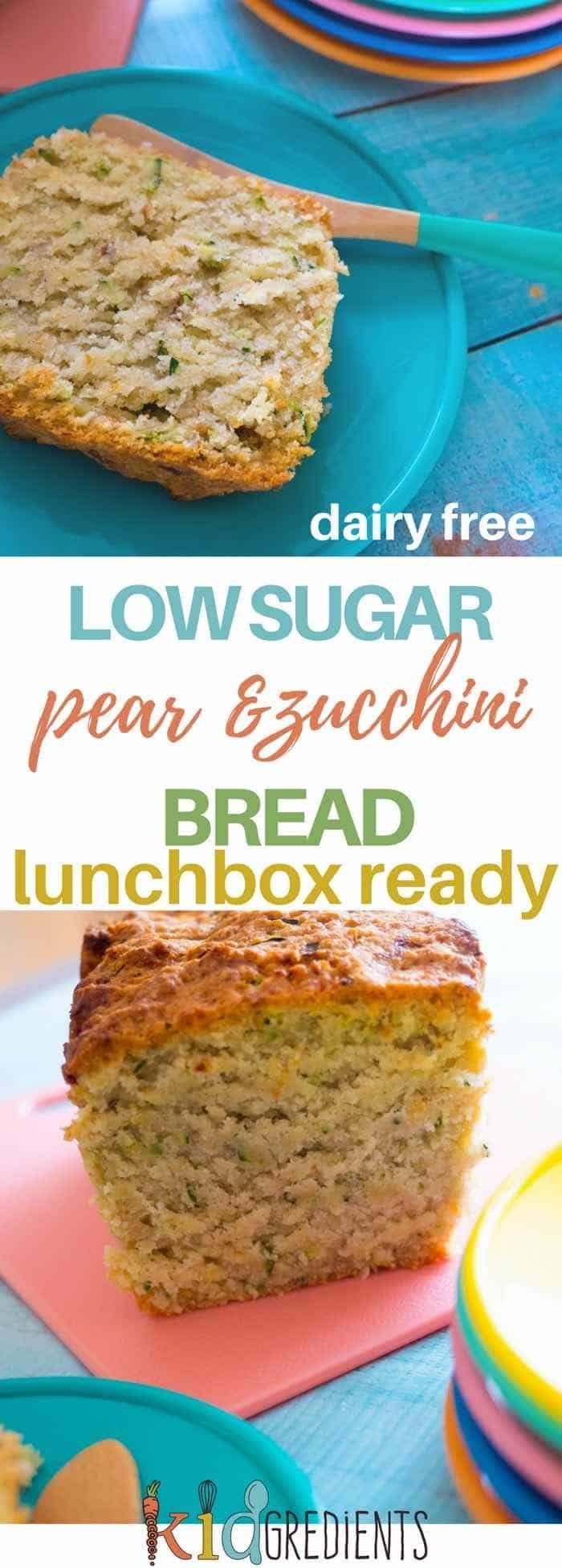 Pear and zucchini bread