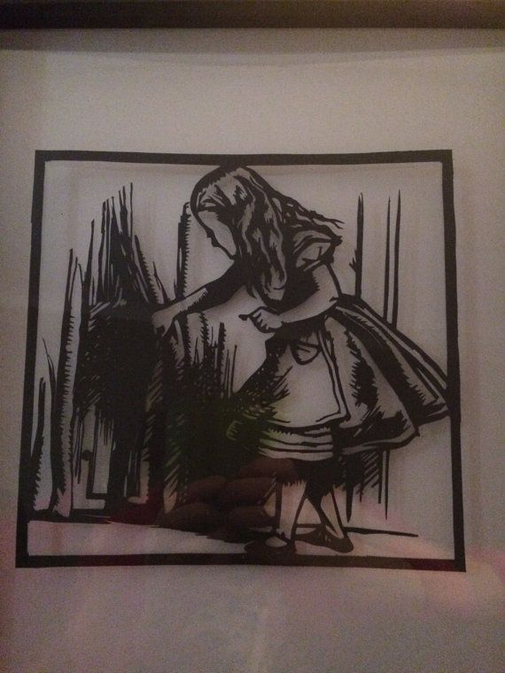 Check out this item in my Etsy shop https://www.etsy.com/uk/listing/503948383/alice-in-wonderland-papercut