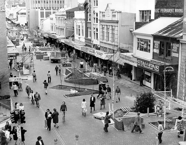 Elizabeth Street Mall when it first opened - 1978