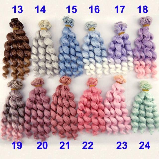 Dostawa fabrycznie 1 kawałek 15 cm grube lalki włosy 1/3/1/4 1/6 BJD bjd kręcone peruki lalki włosy