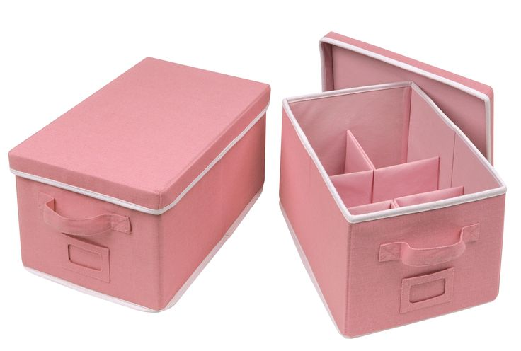 2 Piece Folding Storage Basket Set