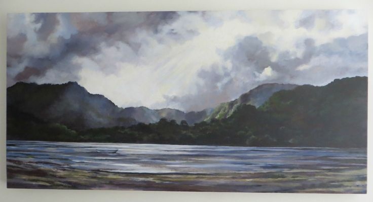 Huia Bay, NZ Acrylic on canvas