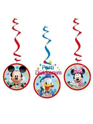 Mickey Mouse Asma Süs (3'lü)