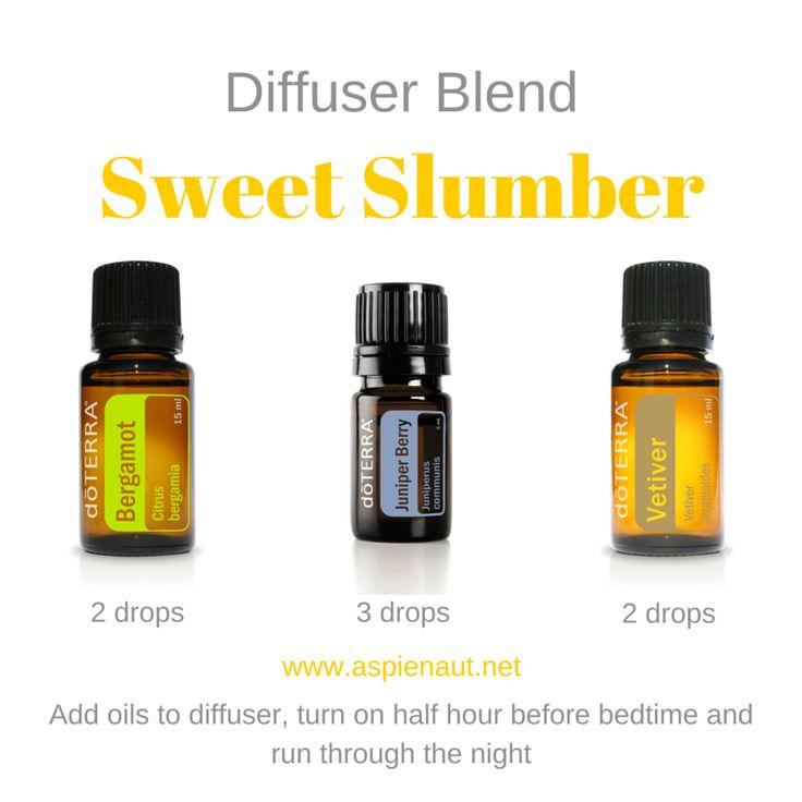 sweet slumber bedtime children sleep calm doterra essential oils diffuser blend juniper berry bergamot vetiver