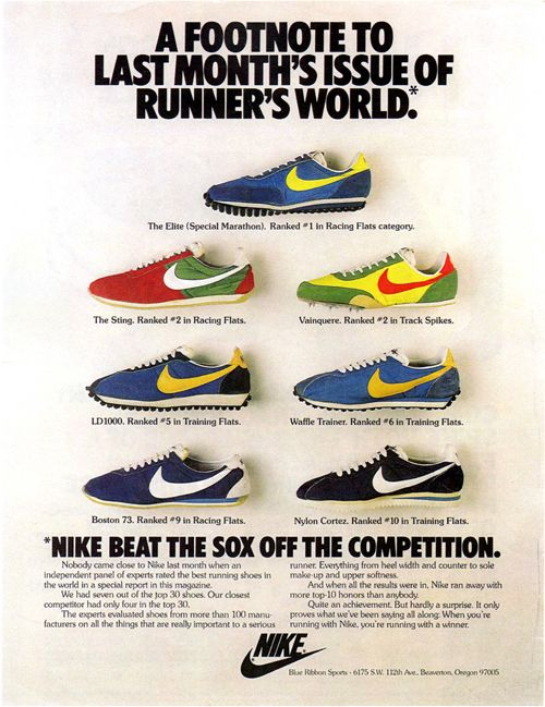 40 Awesome Vintage Nike Sneaker Ads You Don't RememberNike Running