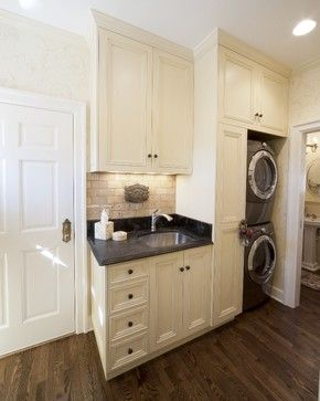 Stacked Washer And Dryer Design Ideas, Pictures, Remodel, and Decor - page 3