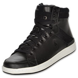 The Polo Ralph Lauren Talbert High Men's Shoes feature leather upper for superior durability and style. The high top gives you increased ankle support while the lace up front provides a snug, custom fit. Stay classy and refined with these men's shoes!