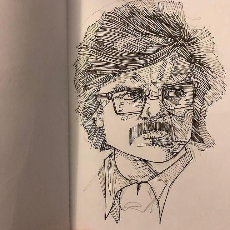 Bolivar Trask #portraitproject #sketchysketch #crosshatching #penandink #project365 #peterdinklage #xmendaysoffuturepast #feensdraw #artistsoninstagram #progressnotperfection #sketchbook #idrawco January 20 2017 at 10:54PM