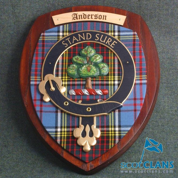 Anderson Clan Crest Plaque | Clan Anderson Products ...