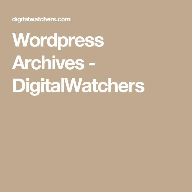 Wordpress Archives - DigitalWatchers